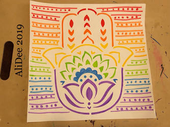 Rainbow Hand of Hamsa by AliDee33