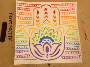 Rainbow Hand of Hamsa