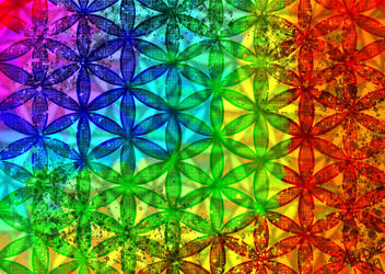 Abstract Flower of Life by AliDee33