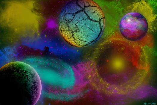 Rainbow Outer space