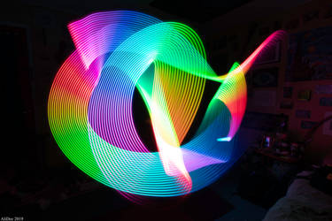 Rainbow Wand Light Painting by AliDee33