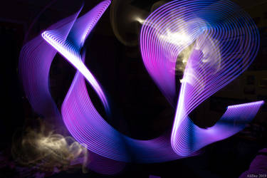 Purple Abstract Light Painting by AliDee33