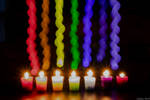 Seven Candles Light Painting by AliDee33