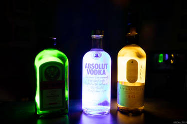 Glowing Bottles Light Painting by AliDee33