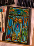 Stained Glass Coloring Book Sheet