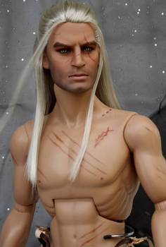 The Witcher  OOAK Doll Repaint