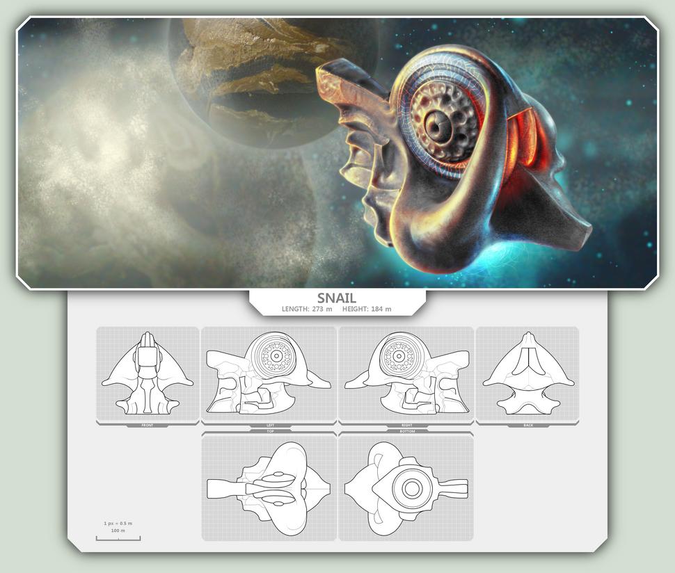 EVE Starship: Snail by TomaszMrozinski