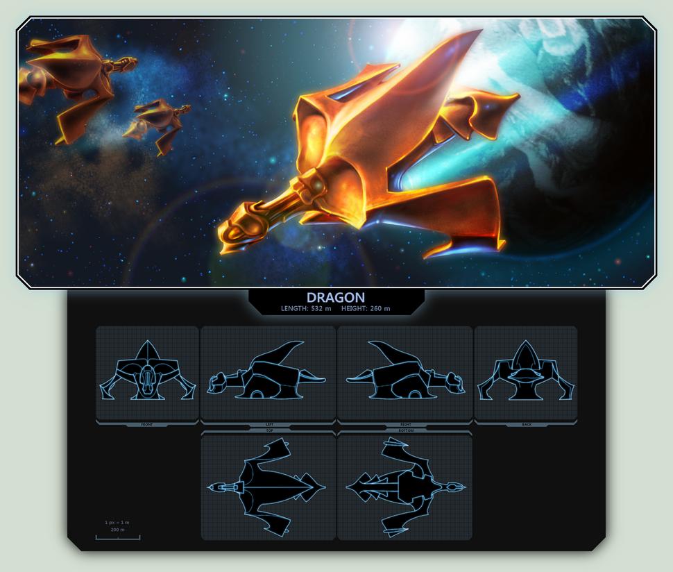 EVE Starship: Dragon by TomaszMrozinski