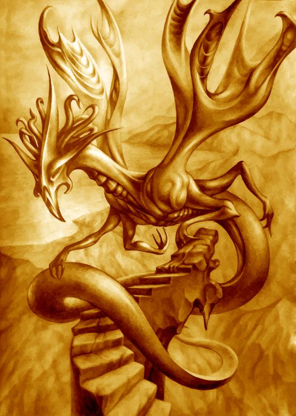 Golden Dragon by TomaszMrozinski