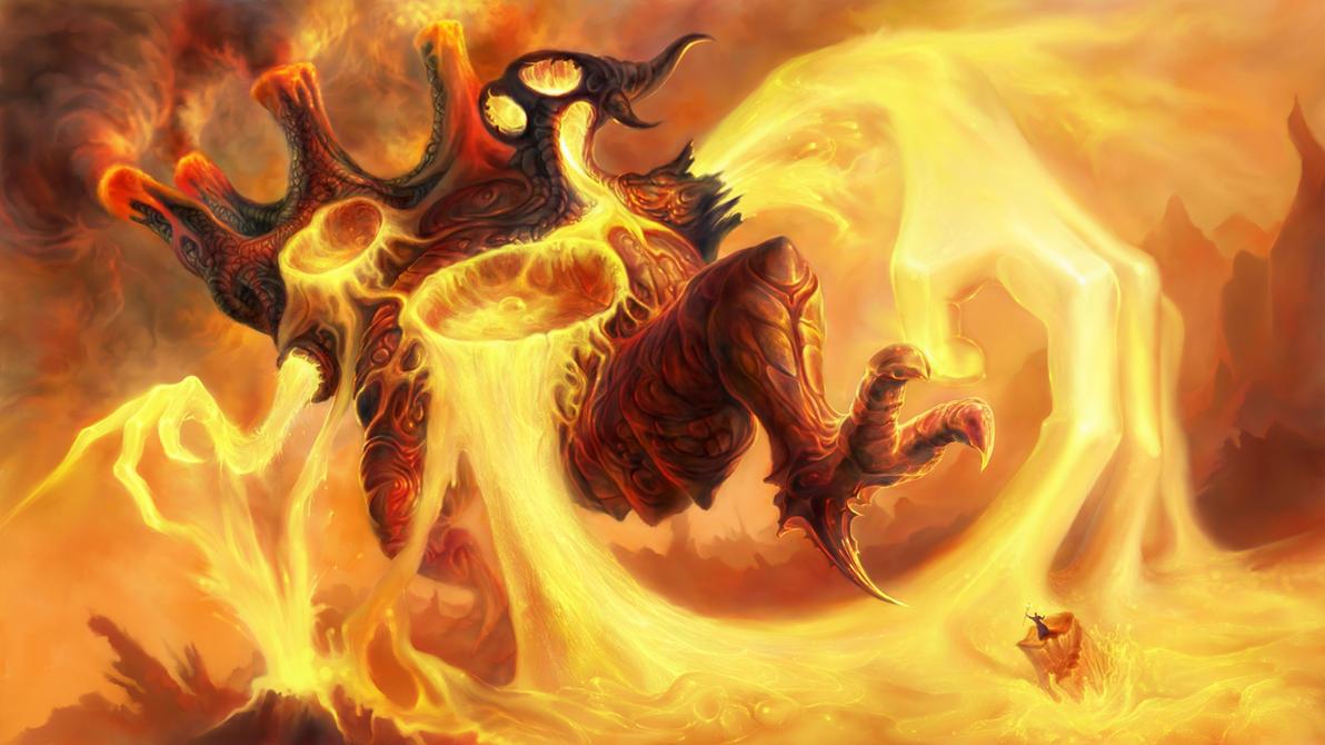Fire Colossus by TomaszMrozinski