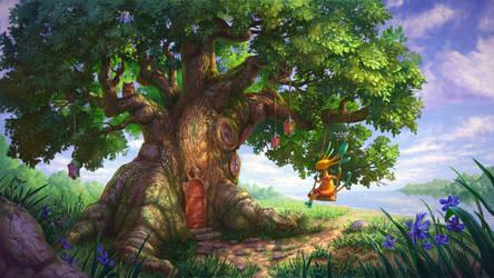 Fairy Treehouse by TomaszMrozinski
