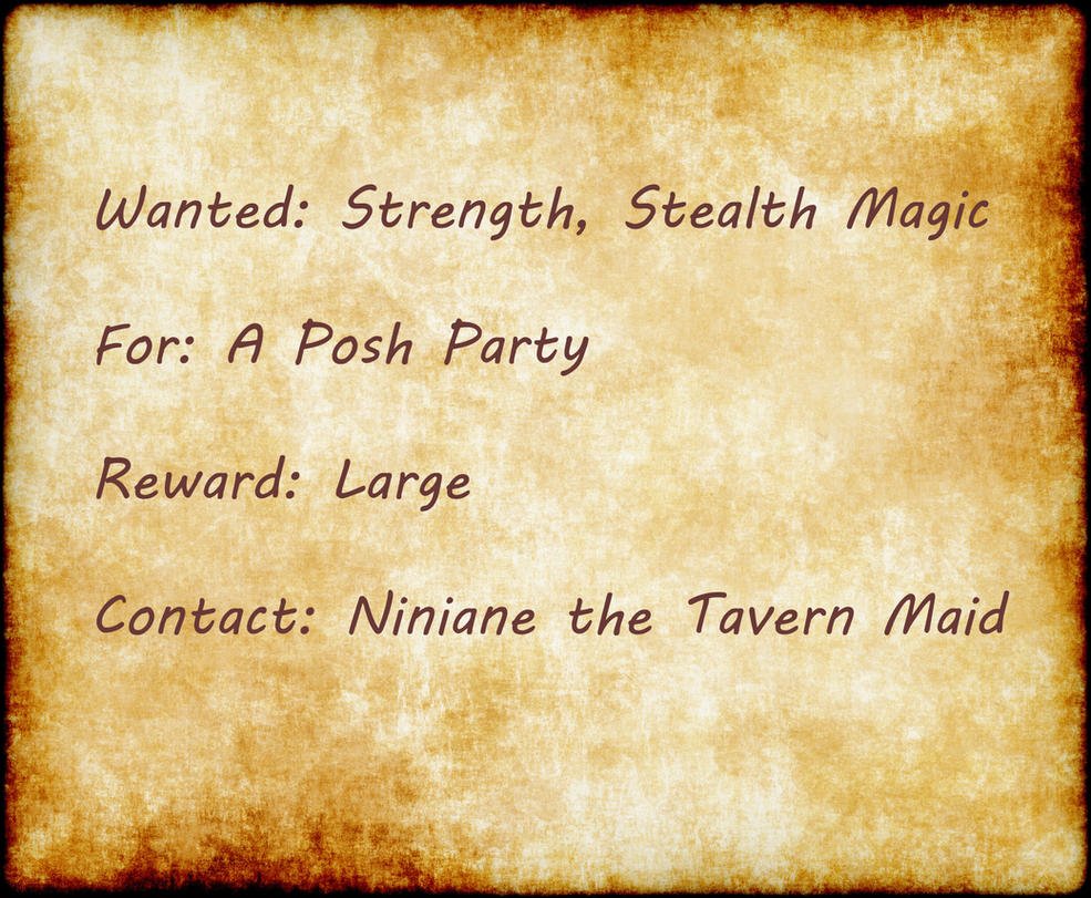 Adventure: The Sylvan Crown Wanted__strength__stealth__magic_by_myds6-d7znag7