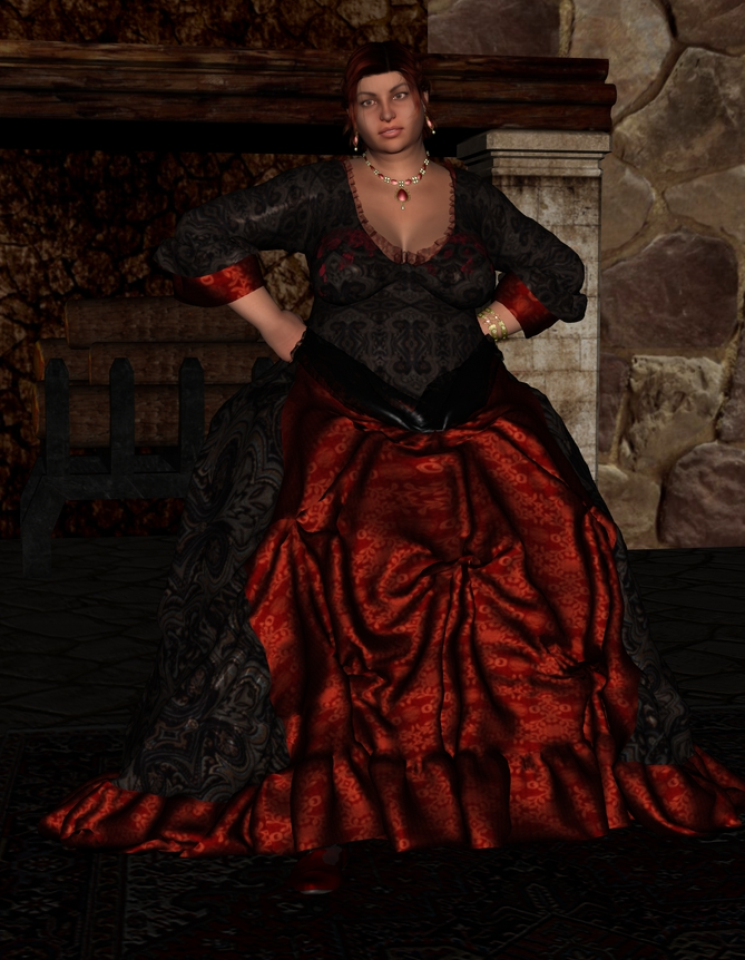 The rest of Cléodine in the tavern. Edelmire_harper_by_myds6-da6424g