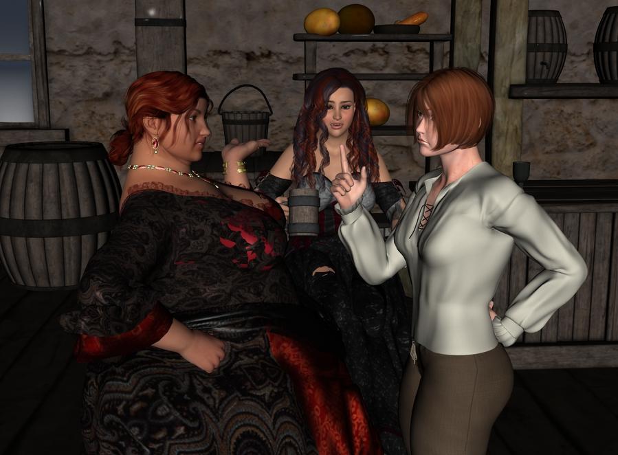 The rest of Cléodine in the tavern. Cleotav001_by_myds6-da9608u