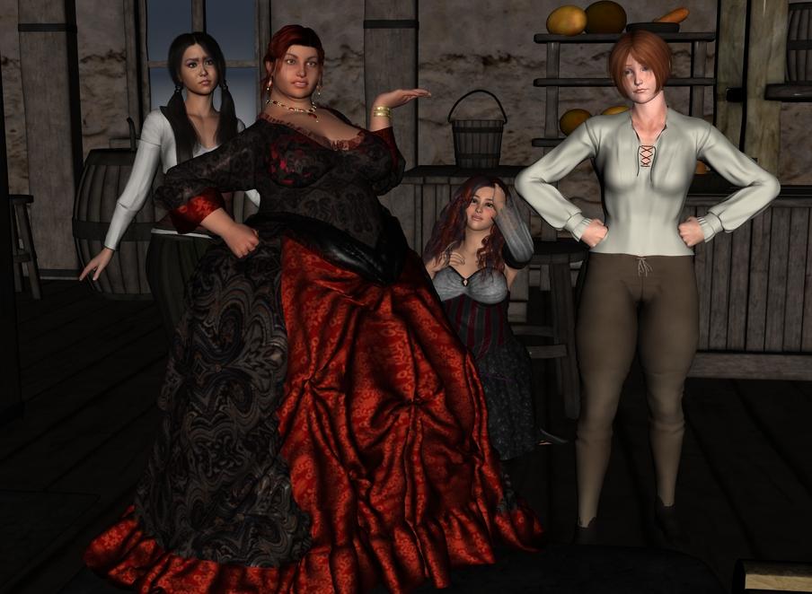The rest of Cléodine in the tavern. Cleotav002_by_myds6-da960gl