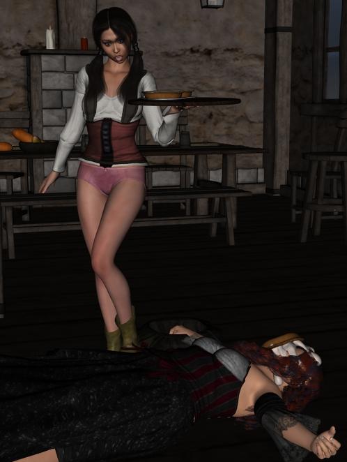 The rest of Cléodine in the tavern. Cleotav010_by_myds6-da9drtd