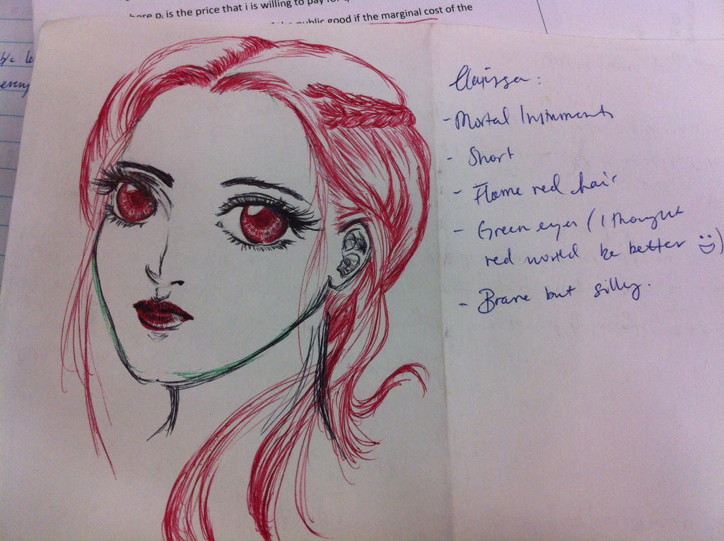 Pen tag - Clary by CeruleanHeavens