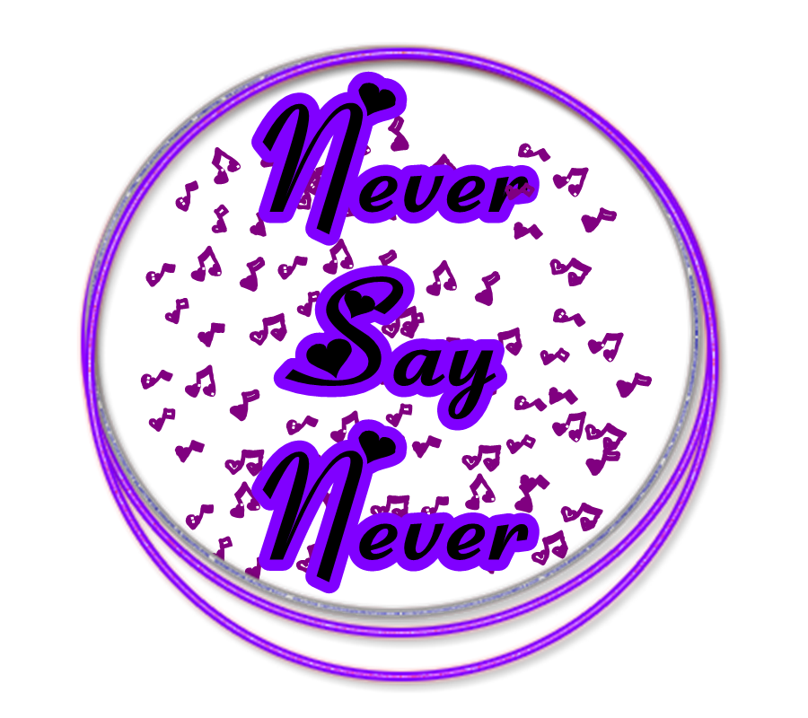 logo png de justin bieber never say never by