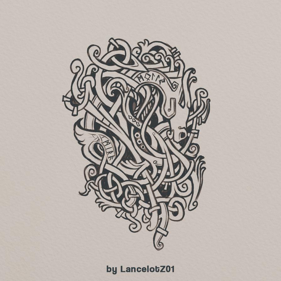sketch of Celtic knot by LancelotZ02