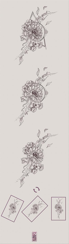 Sunflover tattoo design by LancelotZ02