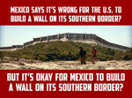 Mexico Southern Border Wall With Guatemala, Belize