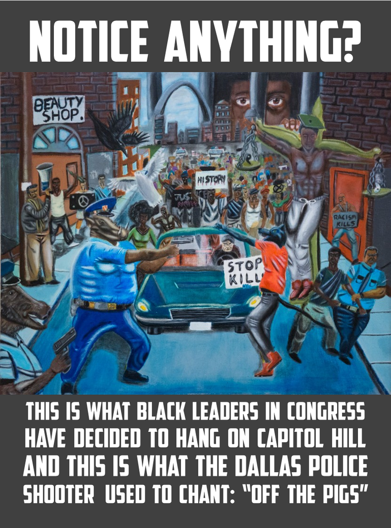 Cops As Pigs Painting In The Capitol Image