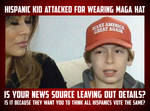 Hispanic Kid Attacked For Supporting Trump