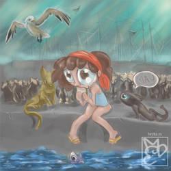 Childlike illustration by Beyka