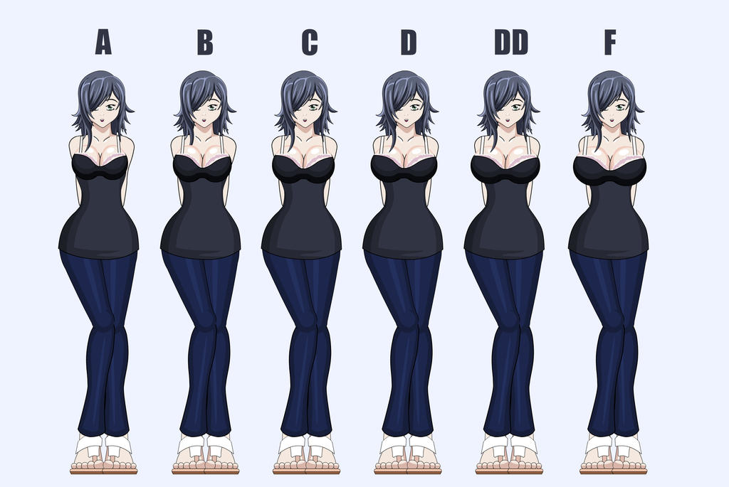 Breast Size Comparison by SapphireFoxx
