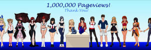 One Million Pageviews!