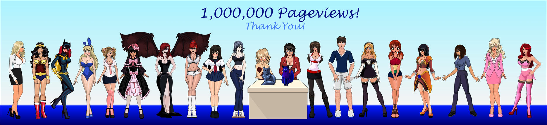 One Million Pageviews! by SapphireFoxx