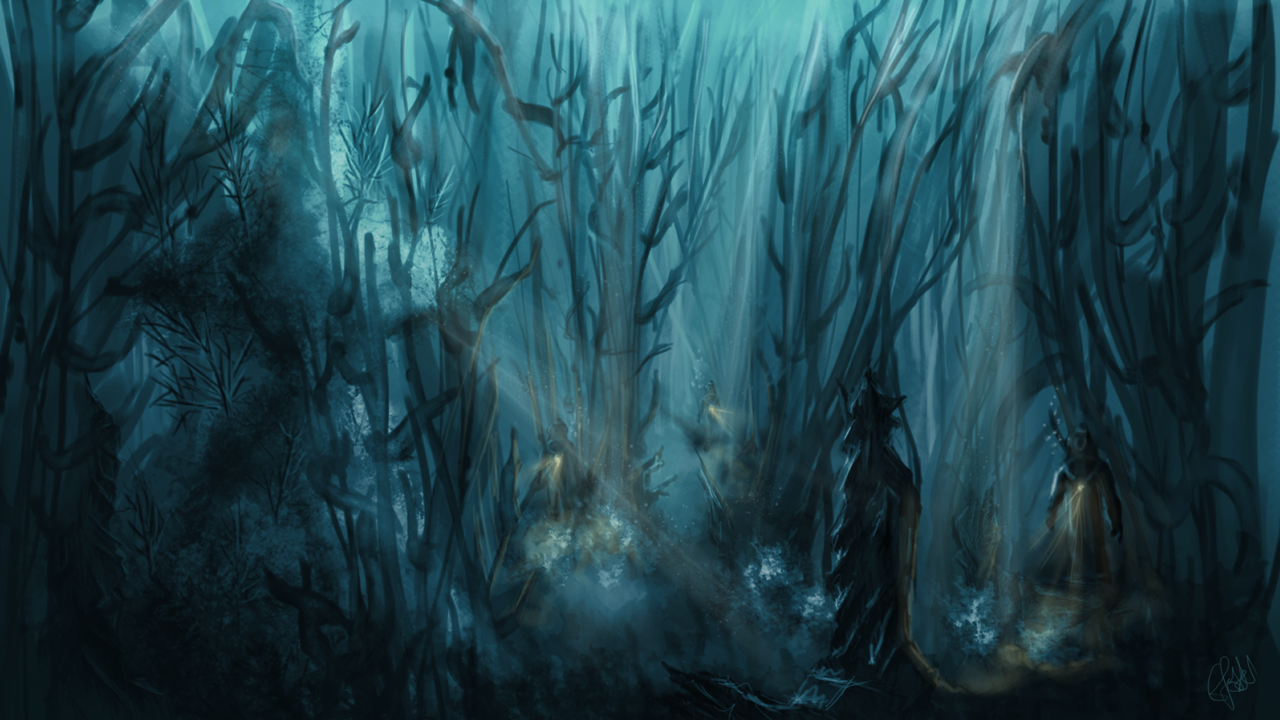 Underwater Cemetery, 20,000 Leagues Under the Sea by x-impala-x