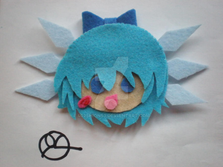 Cirno -Touhou Brooch by 402ShionS3