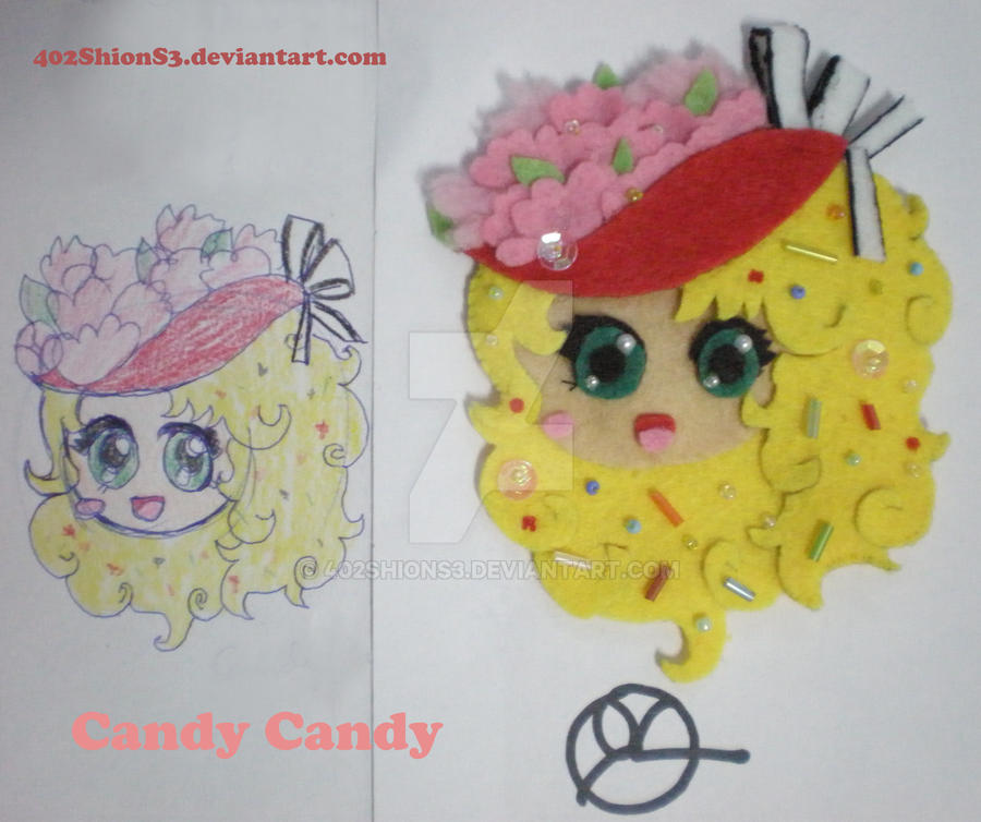 Candy Candy Brooch by 402ShionS3