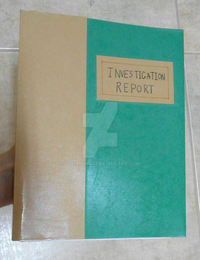 Touch Detective Investigation Report Book cover by 402ShionS3
