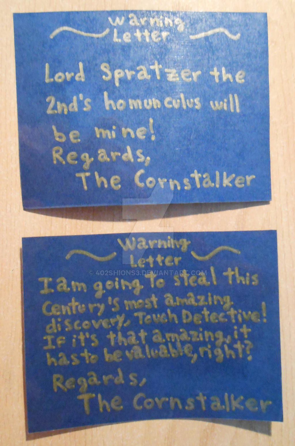 Touch Detective The Cornstalker Warning Letters by 402ShionS3