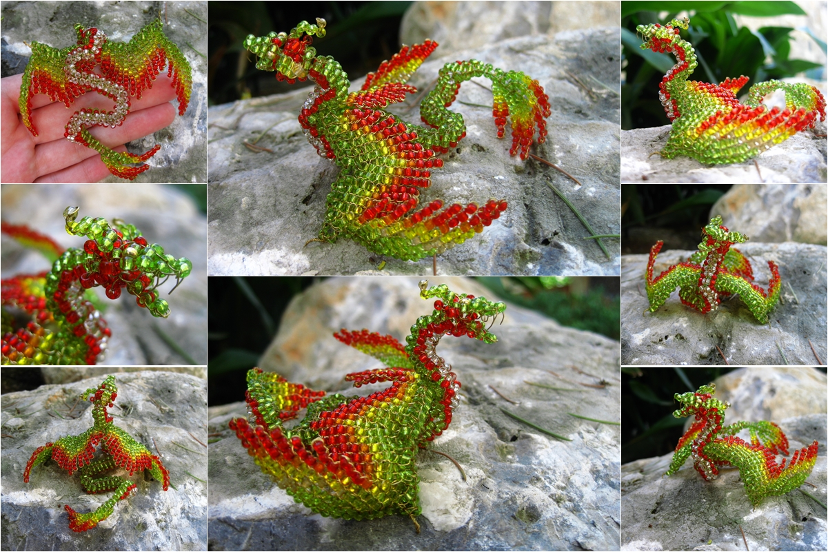 Chaquira feathered serpent by freetobe
