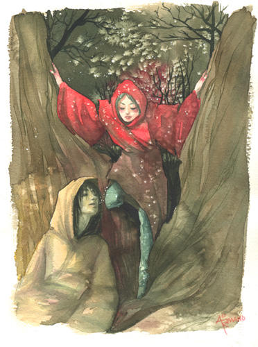 Red Watercolor by aisleenromano