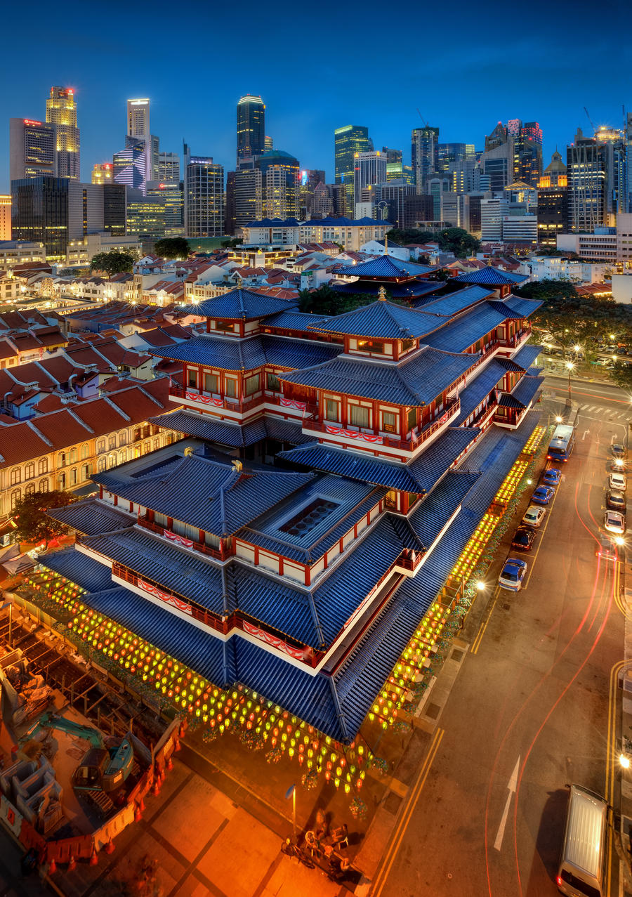 Buddha Tooth Relic Temple 2012 by Draken413o