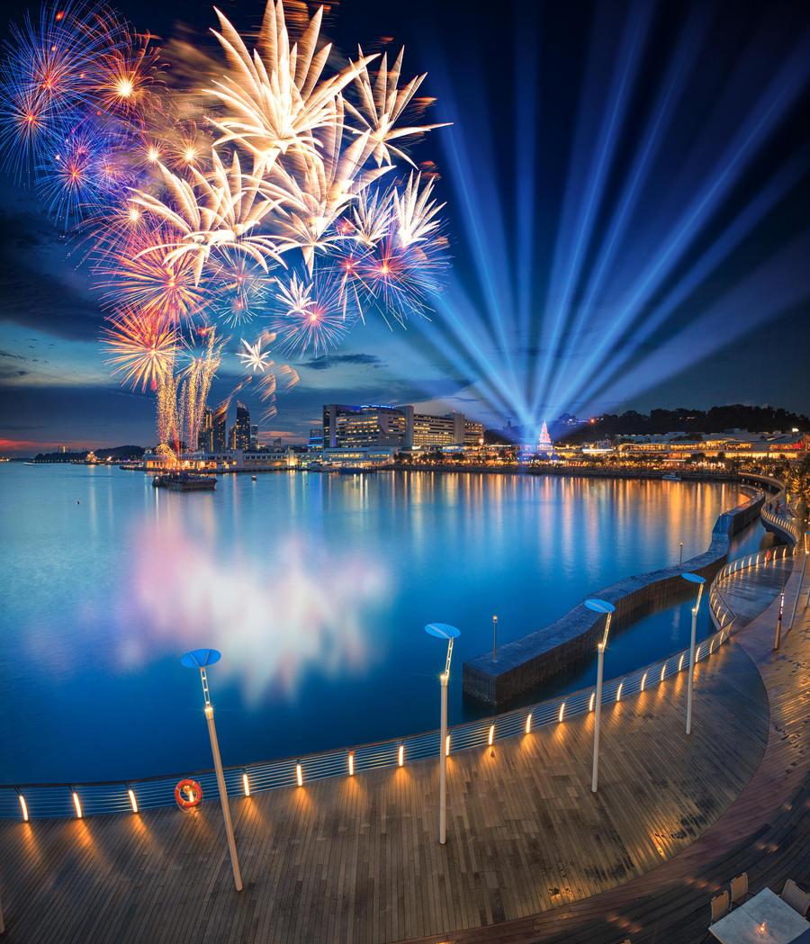 Vivocity 6th Anniversary Fireworks by Draken413o