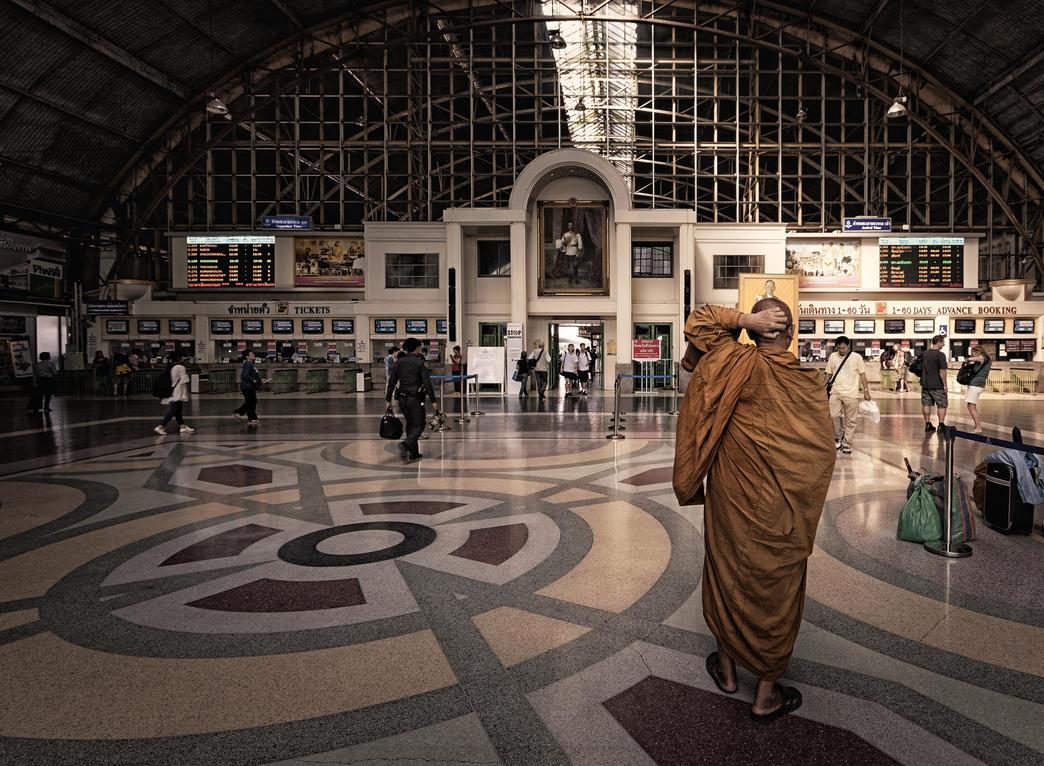 Leaving the Monastery by Draken413o