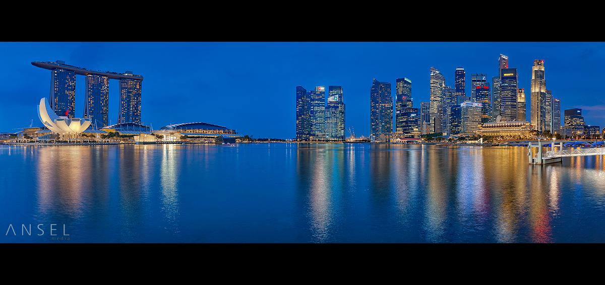 Marina Bay Singapore Twilight by Draken413o