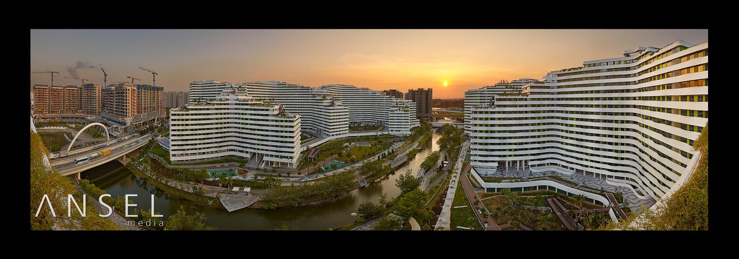 Waterway Panorama by Draken413o