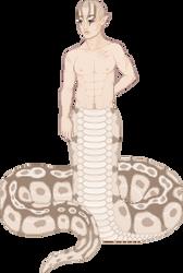 Ball Python Naga by nunilwen