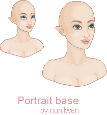 Elven Portrait Base! by nunilwen