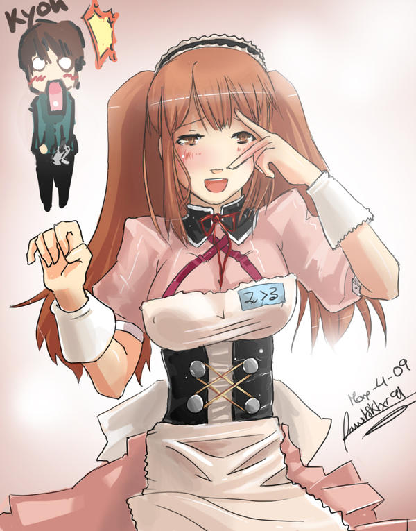 Asahina Mikuru fanart by faustsketcher