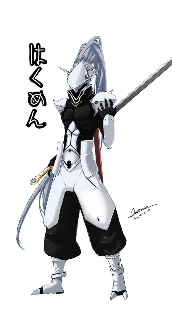 Hakumen -- BlazBlue by faustsketcher