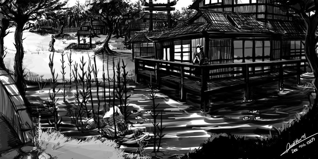 Japanese Village by faustsketcher