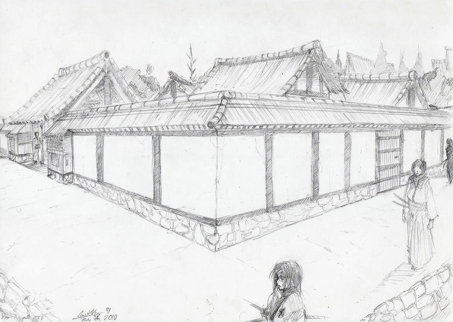 Základňa Kyohin Ryokin  - Stránka 3 Japanese_Village_2_by_sketcher2007