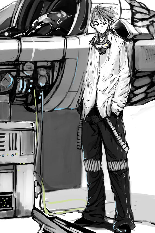 Ship Engineer by faustsketcher